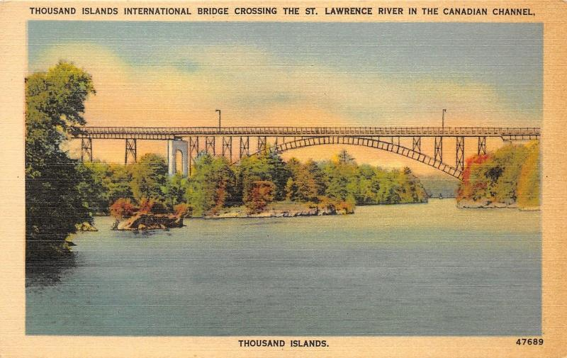 Thousand Islands New York~International Bridge Crossing St Lawrence River~1940s