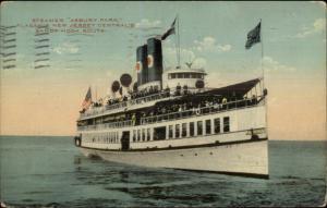 Steamer Ship Asbury Park - Sandy Hook Route c1910 Postcard