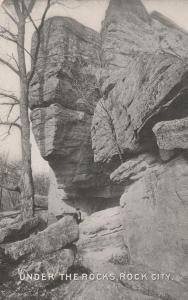 Under the Giant Rocks Rock City Park, Olean NY, New York - DB