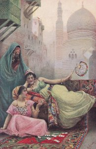 Arabic Future Fortune Teller Pack Of Cards Middle East Old Postcard