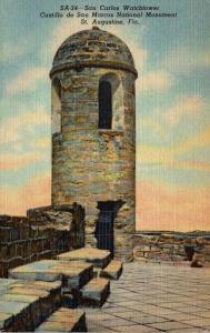 Florida St Augustine Fort Marion Old Watch Tower Curteich