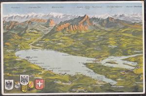 Switzerland Lake Constance Aerial View of Region Post Card