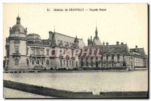 Old Postcard Chateau de Chantilly the West Facade