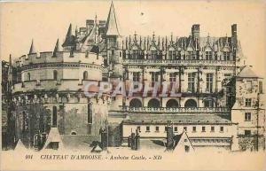 Old Postcard Chateau d'Amboise