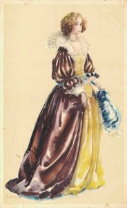 Artist Signed A. Kermer Beautiful Dressed Lady 05.15