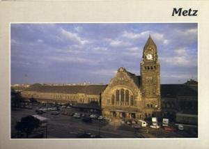 POSTAL 56894: Metz (Moselle) The Station