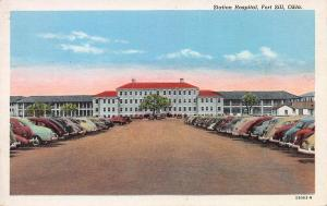 Station Hospital, Fort Sill, Oklahoma, Early Postcard, Unused