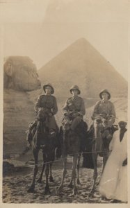 RP: Soldiers on Camels at Pyramids , Egypt , 00-10s