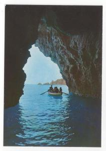 Italy Taormina Mare Sicily Panorama Blue Grotto Postcard 4X6