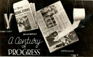 1933 World's Fair A Century Of Progress Newspapers Catalogs Postcard P169