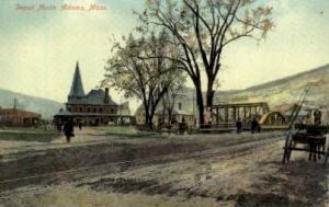 Depot, North Adams, Massachusetts, MA, USA,  Railroad Train Depot Postcard Po...