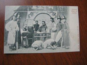 China Hong Kong Postcard UDB Unused 1900-06 Criminal Court Prisoner