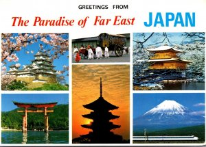 Japan Greetings From The Paradise Of The Far East Multi View1987