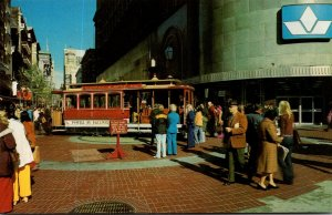 California San Francisco Cable Car On Turntable Powell and Market Streets