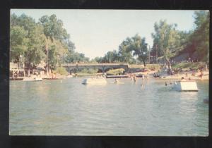 NOEL MISSOURI SHADOW LAKE RESORT SWIMMING BEACH MO. VINTAGE POSTCARD