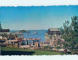 Pre-1980 HARBOR SCENE Beals Island - Near Jonesport Maine ME hp7032