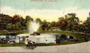 Missouri St Louis Fountain In Benton Park 1907