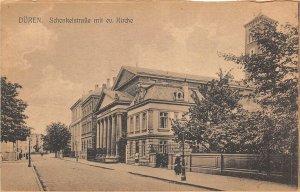 br104862 schenkelstrasse mit ev kirche duren germany