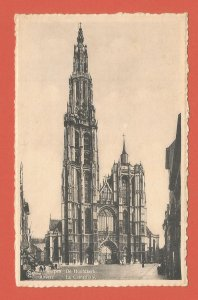 OLD POSTCARD – ANTWERP, BELGIUM – CATHEDRAL – REAL PHOTO POSTCARD 1910