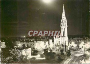 Postcard Moderne Caen (Calvados) The Ramparts Garden St. Peter illuminest