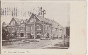 Wisconsin WI Postcard1909 MENOMONIE Gymnasium Building