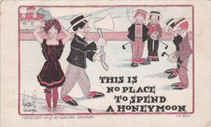 Humour This Is No Place To Spend A Honeymoon By Walter Hellman 1909
