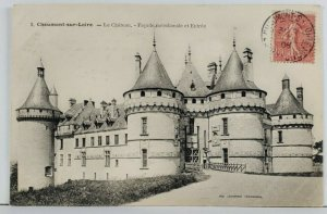 France Chateau-sur-Loire 1906 to Paris Postcard Q1