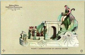 1909 HUDSON-FULTON CELEBRATION Postcard Float - Introduction of Croton Water