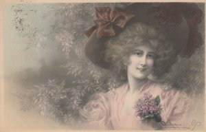 M.M.VIENNE : Female Head Portrait by Wichera , 1909 , #4