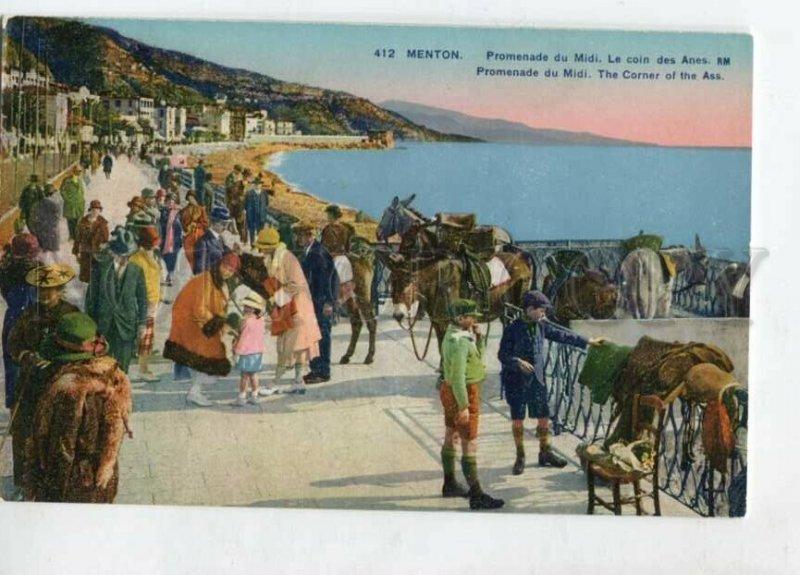 3129551 France MENTON Promenade du Midi Corner of Donkeys OLD