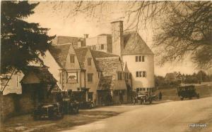 Autos Bear Inn Roadside  1920s Stroud Gloucestershire UK postcard 10672