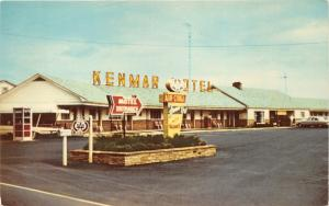 Newburg Pennsylvania~Kenmar Motel~Phone Booth~Vending Machine~Radio Antenna~'60s