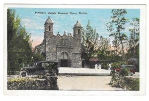 Plymouth Church Coconut Cocoanut Nut Grove Florida Vintage EC Kropp Postcard