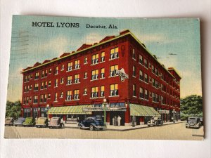 1940s HOTEL LYONS Decatur Alabama John Wesley Building Posted Postcard