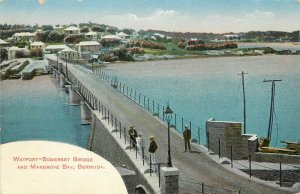Vintage Postcard; Watfort-Somerset Bridge & Mangrove Bay, Bermuda Unposted