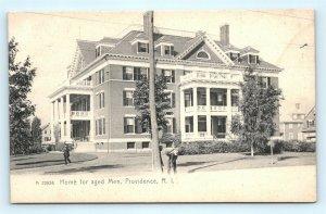 Postcard RI Providence Home for Aged Men Pre 1908 View F22