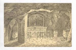 Grotto of Gethsemane, Jordan. PU-1950s