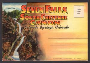 Seven Falls,South Cheyenne Canon,Colorado Springs,CO Souvenir Folder