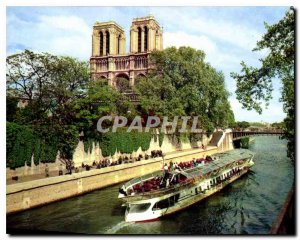 Postcard Modern Colors and Light of Paris France Notre Dame and the Seine