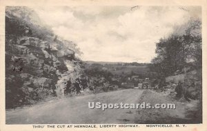 Thru the Cut at Herndale - Monticello, New York