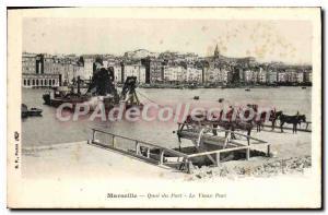 Postcard Old Marseille Quai du Port Vieux Port