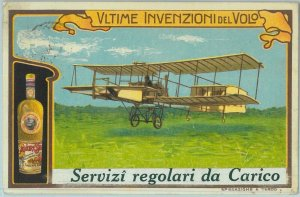 98351 - CARTOLINA d'Epoca - PUBBLICITARIA Illustrata: Liquore STREGA  Aviazione