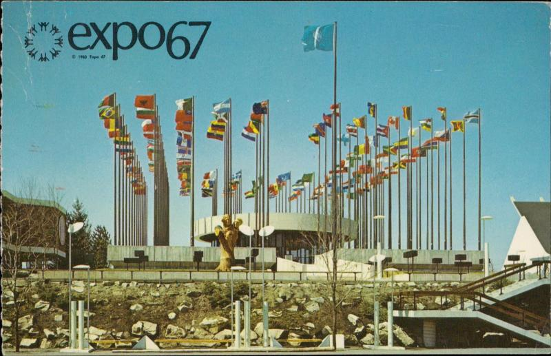 EXPO 67 Pavilion on the United Nations Montreal Canada