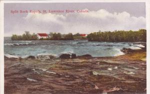 ST. LAWRENCE RIVER, Ontario, Canada, 1900-1910's; Split Rock Rapids
