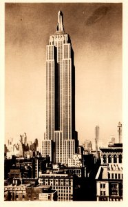 New York City Empire State Building Real Photo Purchased Atop Empire State Bu...