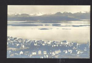 RPPC KIRKHORN MOLDE NORWAY NORGE VINTAGE REAL PHOTO POSTCARD