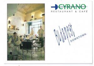 Cyrano Restaurant Budapest Hungary Postcard
