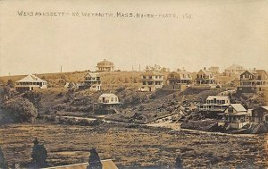 North Weymouth MA Wessagussett Hillside Homes Real Photo Postcard
