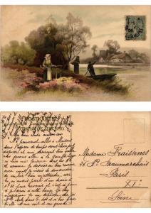 CPA Frohes Schaffen in freier Natur Meissner & Buch Litho Serie 1355 (730419)