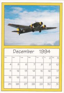 December 1994 Limited Editon Calendar Cardm AirShow '94 Junkers JU-52